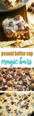 Magic bars Peanut butter cups and Bar recipes on Pinterest