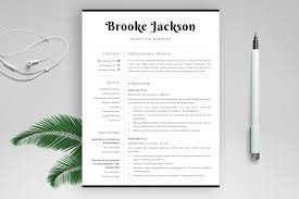 Professional Resume Template Brooke Bonus