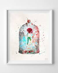 Beauty And The Beast Rose Curse Quote Best of Cursed Rose Print Beauty And The Beast Enchanted Rose Watercolor