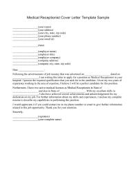 Medical Receptionist Cover Letter Examples Httpwwwjobresume For