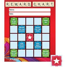 Incentive Charts For Students Scrabble Stars Mini Reward Chart