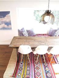 layering rugs under dining table i keep finding too small vintage the idea of layering a