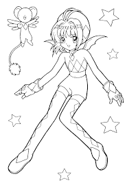 Small Picture Anime Coloring Pages Coloring Pages Kids