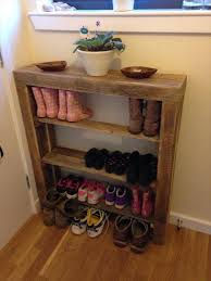 diy pallet shoe rack. Reclaimed Pallet Shoes Rack Diy Shoe C