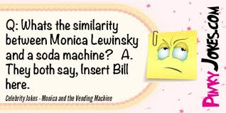Vending Machine Jokes Cool Celebrity Jokes Monica And The Vending Machine Pinky Jokes