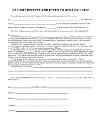 Deposit Templates Download Our Sample Of Security Deposit Receipt Template