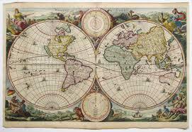 antique map keur world