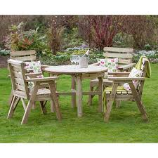 more views the zest4leisure wooden abbey round table and 4 chair