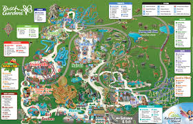 busch gardens tickets tampa. Perfect Tickets Map Of Busch Gardens Tampa Attractions For Tickets A