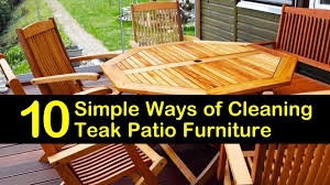 cleaning teak patio furniture
