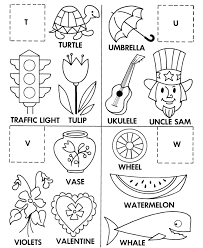 Small Picture Alphabet Cut Paste ABC Activity Sheets Letter Matching