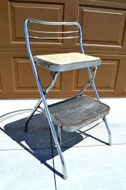 vintage kitchen retro chair bar step stool black photo cosco