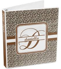 Print Binder Leopard Print 3 Ring Binder Personalized