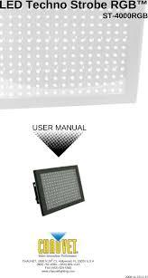 Chauvet Rgb Color Chart Chauvet St 4000rgb User Manual To The 59dcfccb 8686 4297