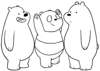 Disegni Di We Bare Bears Da Colorare