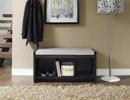 Storage Benches For Living Room Ameriwood Furniture Penelope Entryway Storage Bench With Cushion
