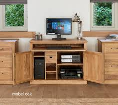 nara solid oak hidden home. Fine Oak Mobel Oak Hidden Home Office In Nara Solid