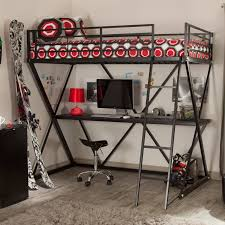 metal bunk bed with desk. Beautiful Bunk Stylish Metal Loft Bed With Desk Combo For Bunk