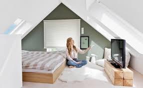 Wohnzimmer Dachschrage Einrichtung Wohnideen Dekorieren Mit