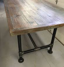 industrial counter height table. Reclaimed Wood Counter Height Table Industrial B