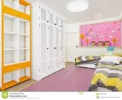 Gemütliches Mädchen S Schlafzimmer Im Rosa Mit Garderobe Und