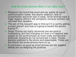 smartphone s and their effect in society