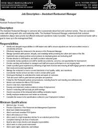 Resume Restaurant Manager 6 Restaurant Manager Resume Templates Free Download