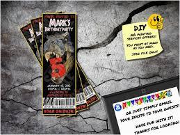 Jurassic Park Invitations Emailable Birthday Cards Jurassic Park Invite Printable