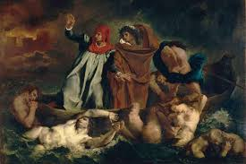 treason isn t just a crime it s a sin of the heart essay  eugene delacroix s 1822 painting the barque of dante depicts the florentine author of the divine comedy being guided through hell by the r poet