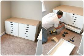 ikea office makeover. A Blogger\u0027s Office Makeover - Custom Worktable Using Ikea Drawers