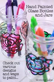 Ways To Decorate Glass Jars Hand Painted Glass Bottles And Jars Different Ways To Paint 75
