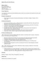 medical records clerk resume spectacular idea medical records resume  medical records resume sample medical records clerk