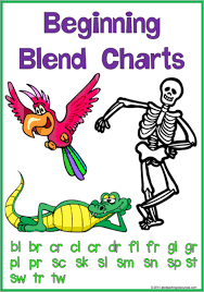 Beginning Blends Blend Word Picture Charts