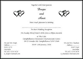 invitation wording sle indian wedding card format template in