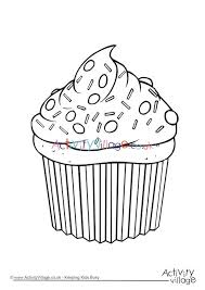 Explore 623989 free printable coloring pages for your kids and adults. Cupcake Colouring Page