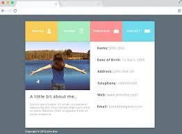 resume web templates free web resume templates flat website template 4 student profile