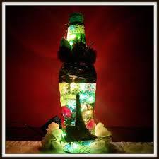 diy glass bottle lamp decor by sharada dilip