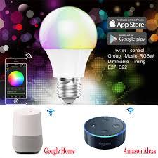 BOLEDENGYE RGBW CCT <b>Bulb WIFI Wireless</b> Control <b>E27</b> RGB ...