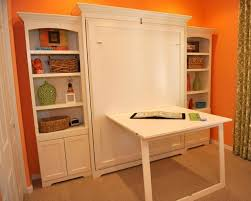 Table Murphy Bed Inside Wall With Custom Side Cabinets Traditional