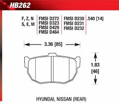 Hawk Performance Ht 10 Motorsport Brake Pads Hb262s 540