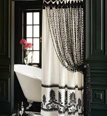 luxury shower curtain ideas. Long Shower Curtain Ideas With Luxury Black And White Accents #bathroom Decor E