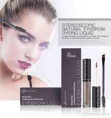pudaier liquid eyebrow gel eyes makeup 24 hours long lasting brand waterproof eyebrow enhancers cream cosmetics with eye brow brush makeup brushes makeup
