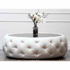 Round tufted ottoman coffee table 1