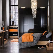 black and orange bedroom ideas photo - 3