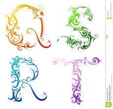 Decorative Letters Decorative Letter Font Type Royalty Free Stock Images Image