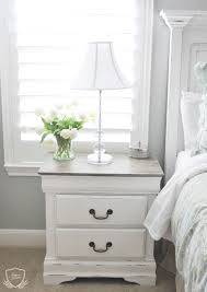 chalk paint bedroom furniture. Nightstand Chalk Paint Tutorial More Refinished Bedroom Furniture Painting Wood White Inside