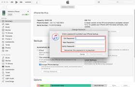 How To Change Encrypt Iphone Backup Password Imobie