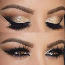 brilliant golden eye makeup for