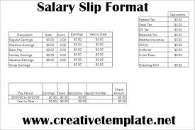 Salary Slip Word Format Simple Salary Slip Format In Word Free Download Creative Template