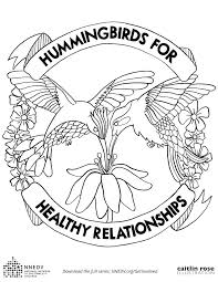 art coloring pages hummingbirds for healthy relationships page therapy pdf disney characters r